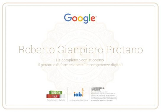 attestato google