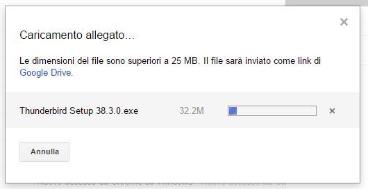 inviare file di grandi dimensioni con google drive